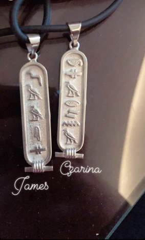 What to do in Cairo: Hieroglyphic name tags